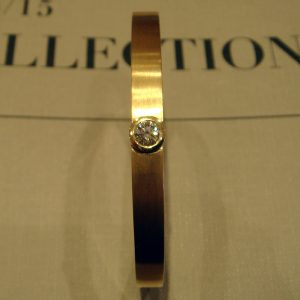 Williamson Brown Half Carat Diamond Solitaire Bangle