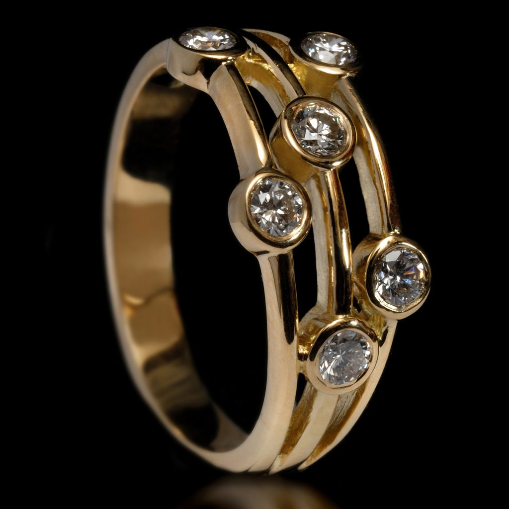 Yellow Gold & 0.8ct Diamond Lifestyle Ring