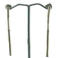 Williamson Brown Chain Drop Tube Earrings