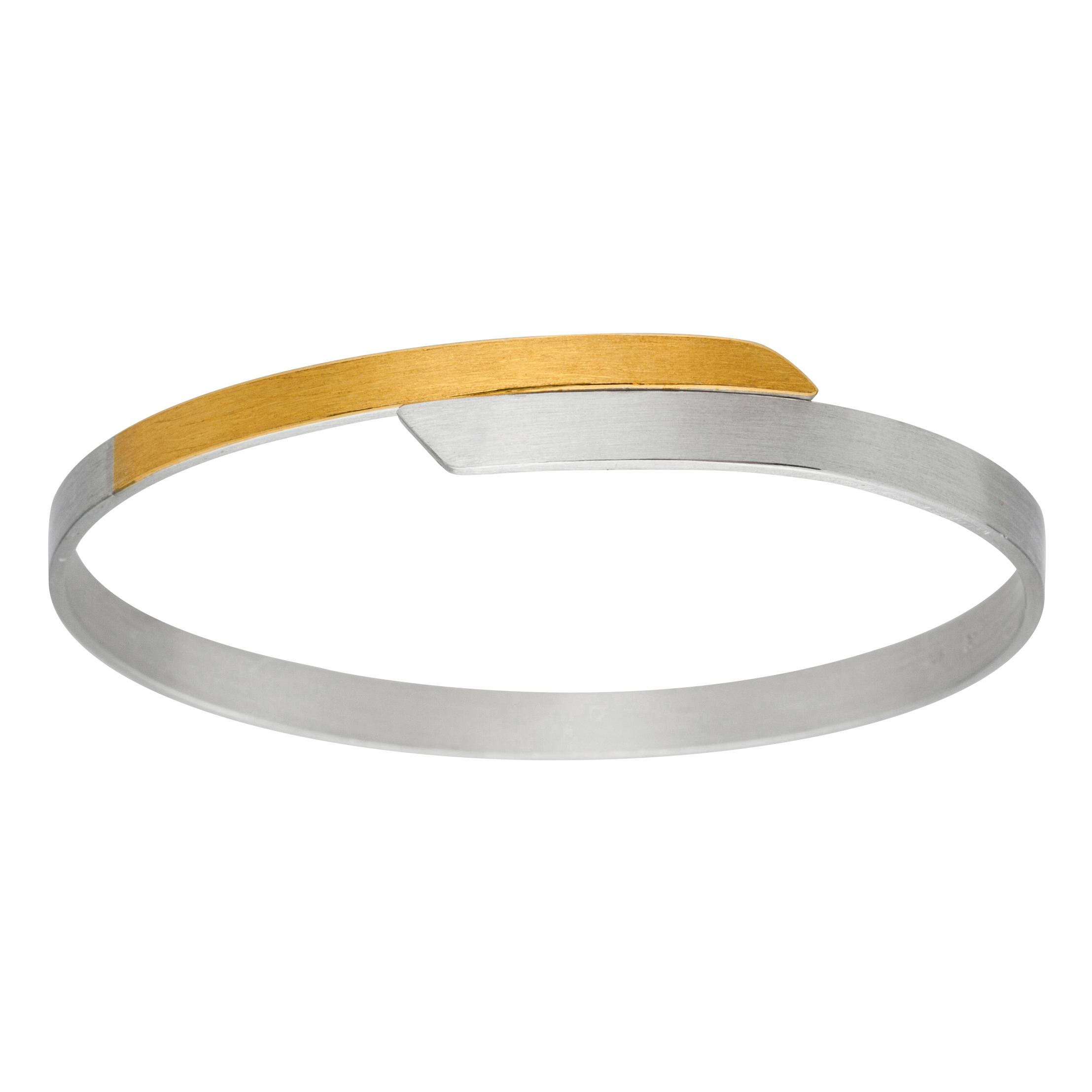 Manu Gold & Silver Polished Bangle