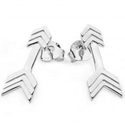 Lucy Q Silver Arrow Earrings