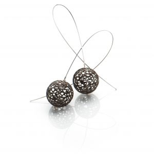 Lindenau Black Rhodium Bobble Earrings