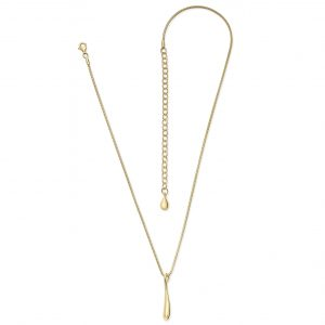 Lucy Q Gold Vermeil Single Drip Necklace