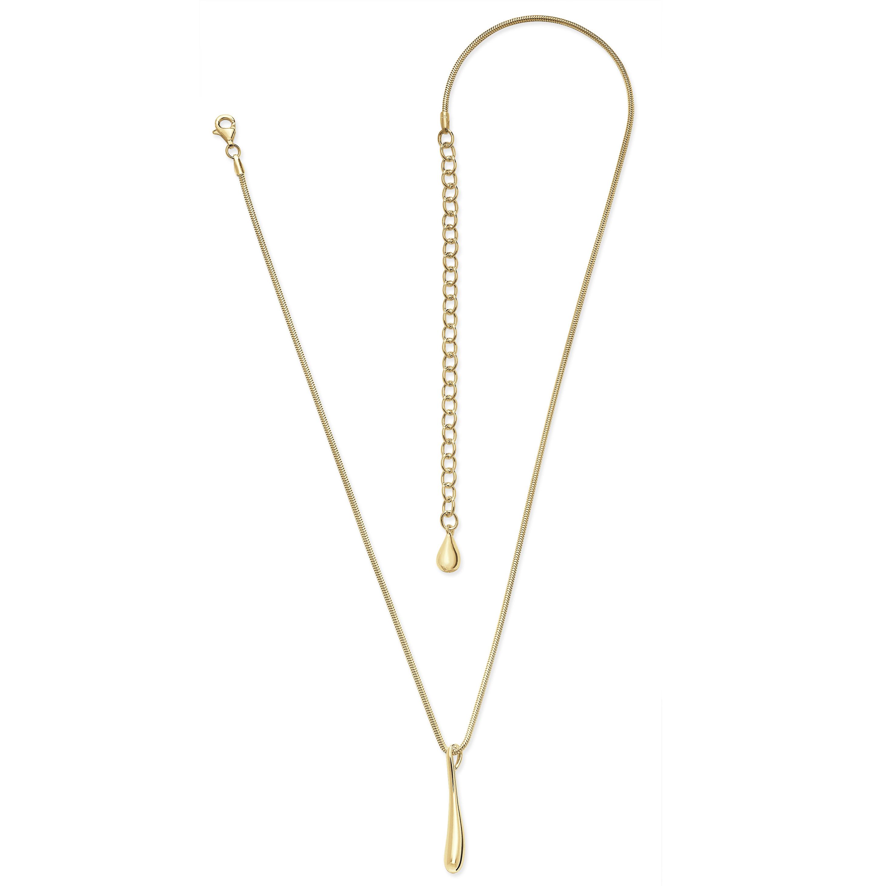 Lucy Q Gold Vermeil Single Drip Necklace