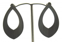 Lindenau Tribal Spear In Black Rhodium Earring