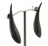Lindenau Oblong Black Rhodium Earring