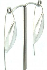 Lindenau Large Silver Seed Pod Earring