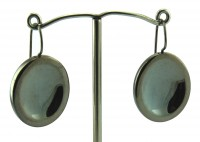 Lindenau Stylized Polished Oval Earring