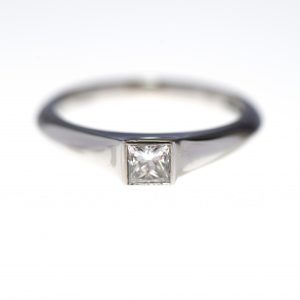 Michael Birnie Platinum & Square Diamond Engagement Ring