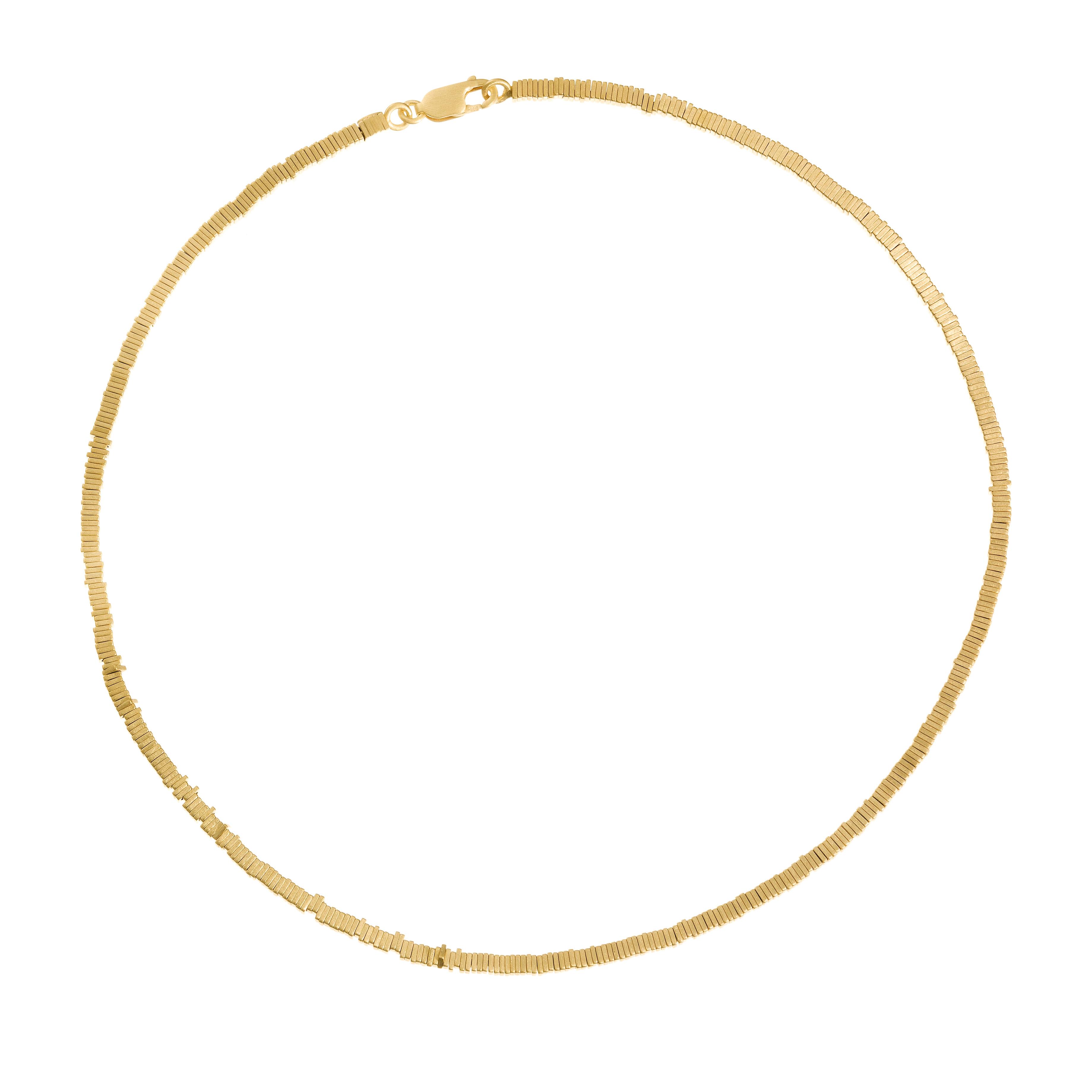 Tezer Gold Vermeil Fine Classic Necklace