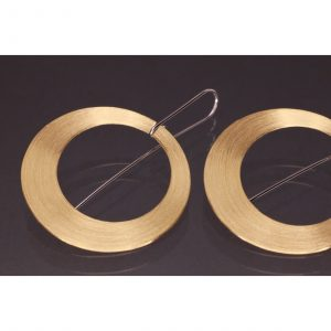 Lindenau Gold Vermeil Sun Disk Earrings