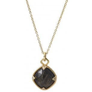 Jayce Wong Angel's Hair Black Chalcedony Pendant