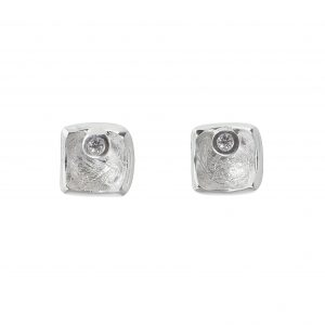 Tezer Diamond Square Earring