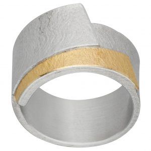 Manu Gold And Silver Chunky Ring