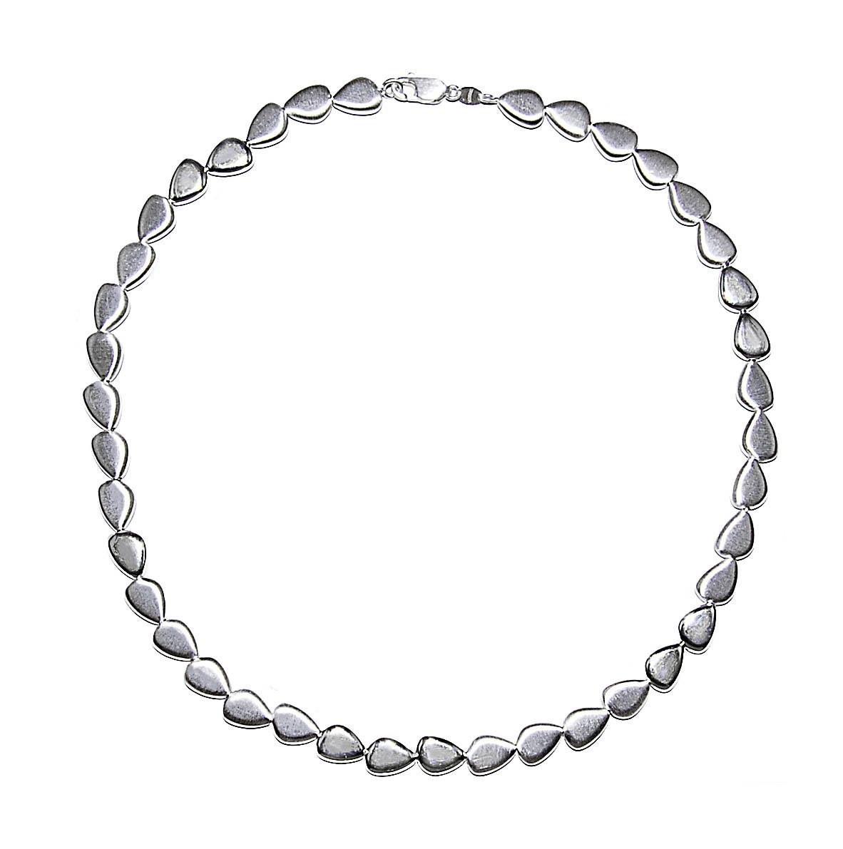 Tezer Sterling Silver Continuous Pebble Necklace