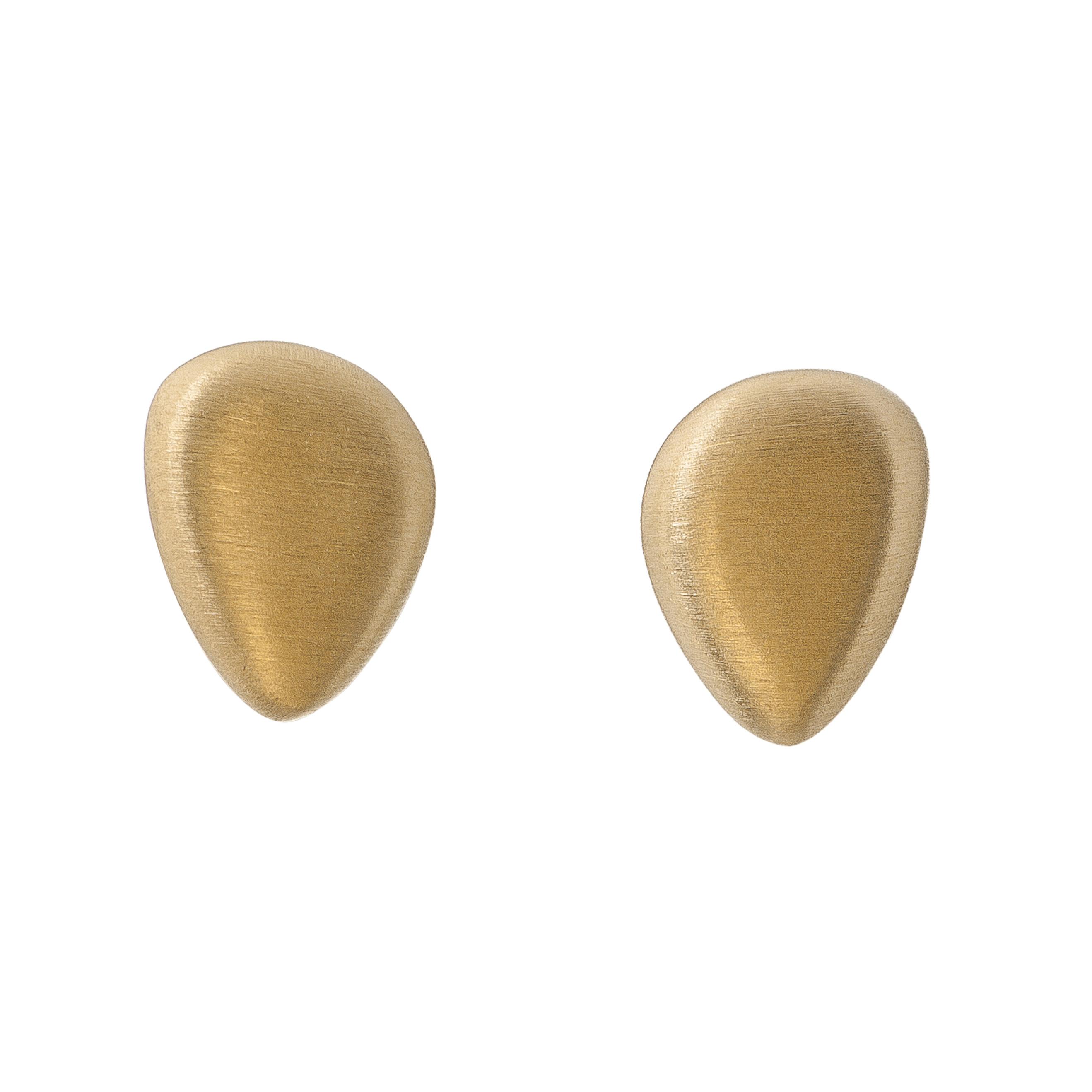 Tezer Gold Vermeil Pebble Stud Earring