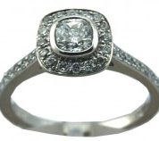 Williamson Brown Platinum 0.84ct Cushion-Cut Engagement Ring