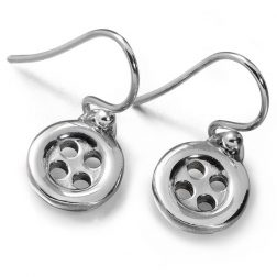 Lucy Q Silver Button Earrings