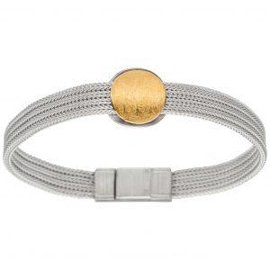 Manu Silver & Gold Circle Bracelet