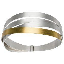 Manu Multi-Band Silver & Gold Bangle