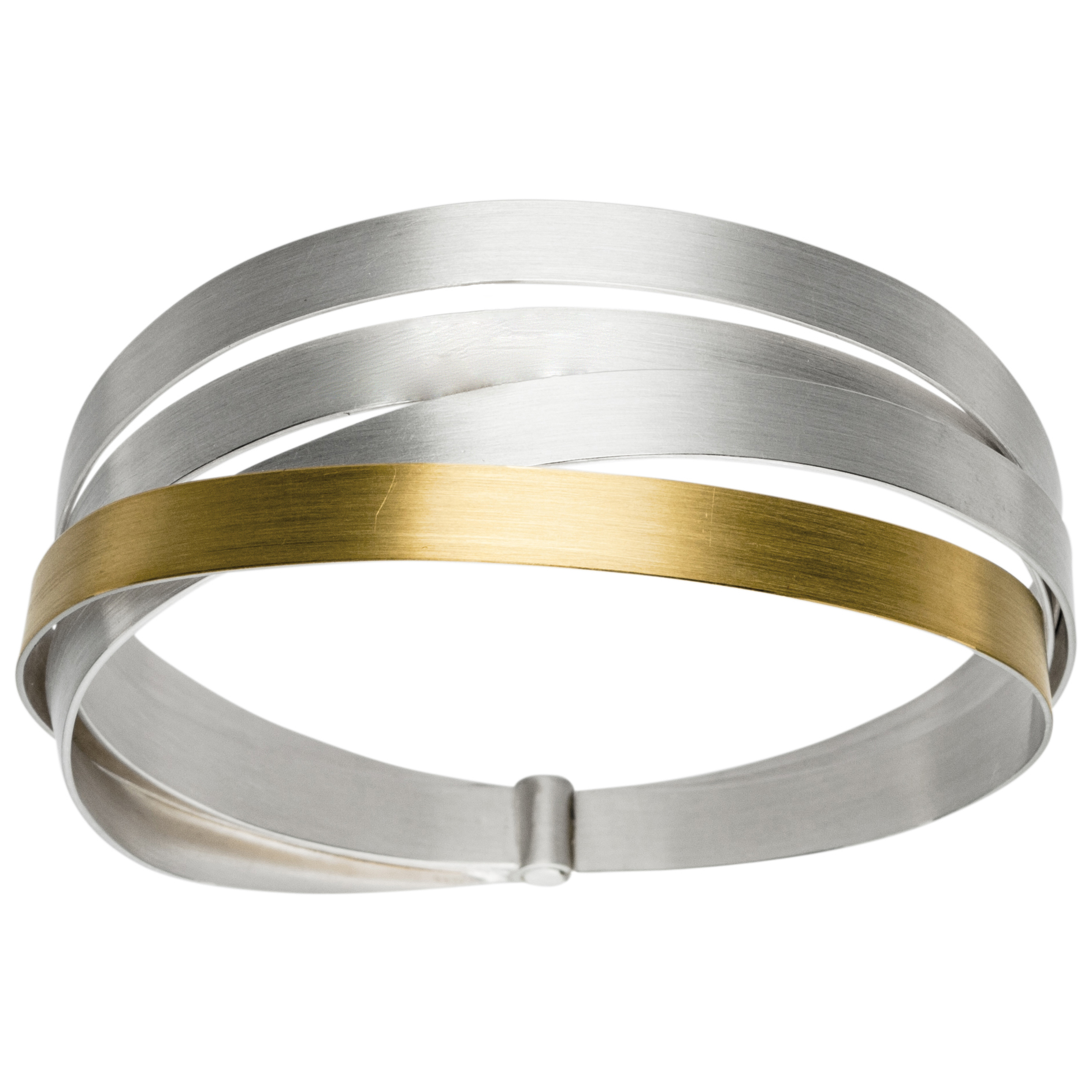 Manu Multi-Band Silver & Gold Bangle