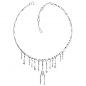 Lucy Q Silver Water Droplet Necklace