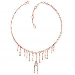 Lucy Q Water Droplet Necklace With Pearl