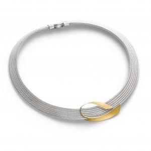 Manu Gold Curve Necklet