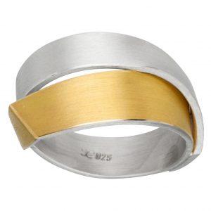 Manu Gold And Silver Fold Ring