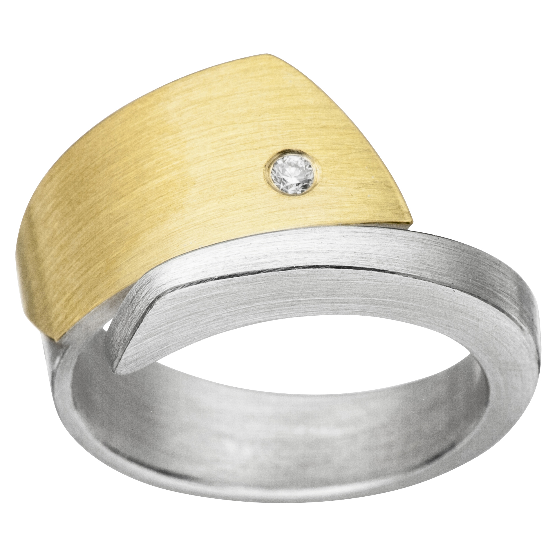 Manu Silver, 22ct Gold And Diamond Ring