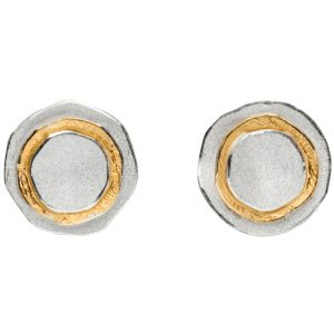 Manu Silver And 22CT Gold Circle Studs