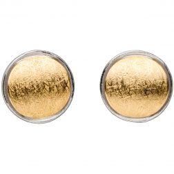Manu Layered Silver & Gold Circle Studs