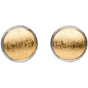 Manu Layered Silver & Gold Circle Studs