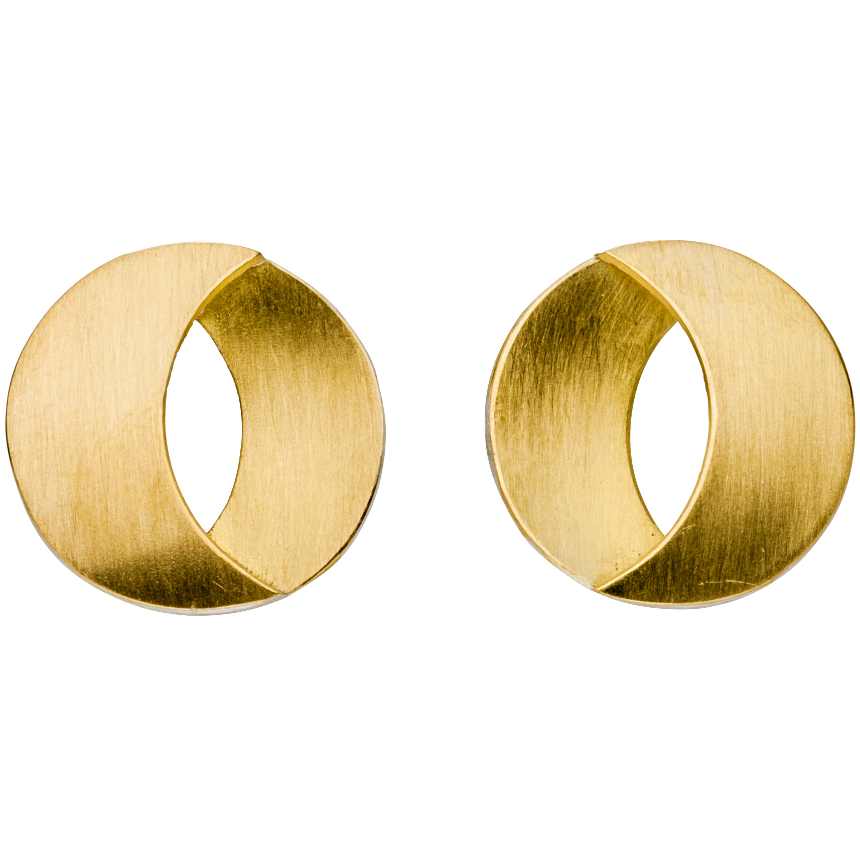 Manu Gold Split Disk Earrings