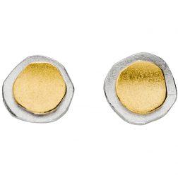 Manu Silver & Gold Layered Circle Studs