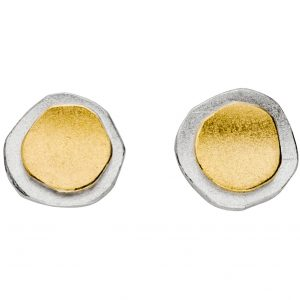 Manu Silver & Gold Layered Circle Studs