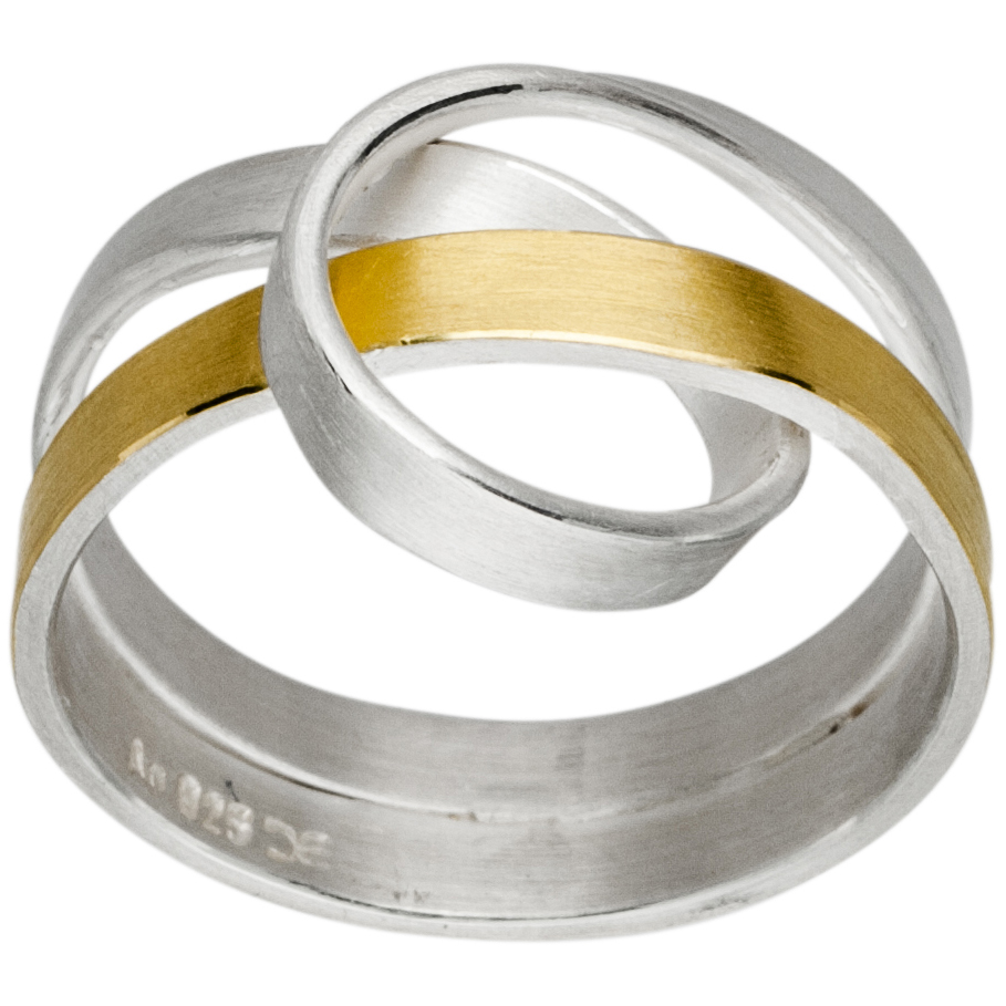Manu Silver And Gold Knot Ring
