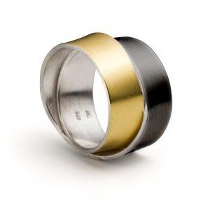 Manu Black & Gold Ring