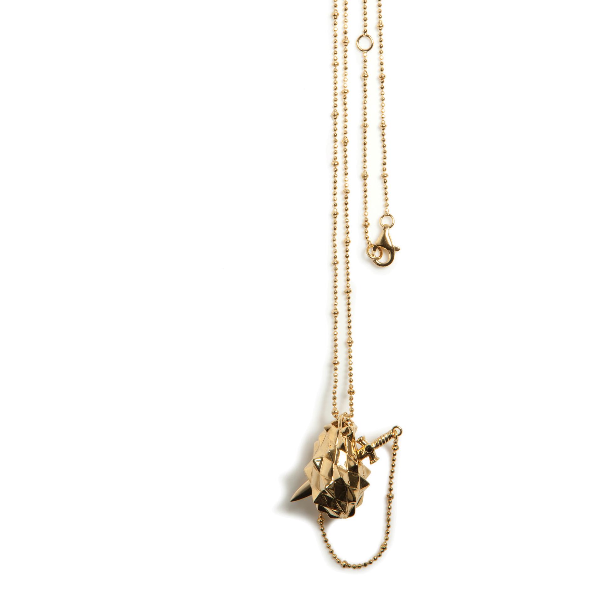 Kasun Gold Vermeil Vampire Heart Pendant