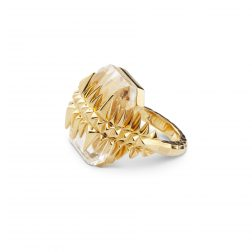 Kasun Gold Vermeil Black Sea Glacier Ring