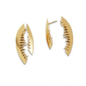 Kasun Gold Vermeil Shark Bite Earrings
