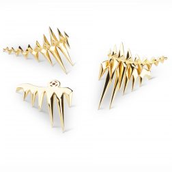 Kasun Gold Vermeil Black Sea Glacier Earrings