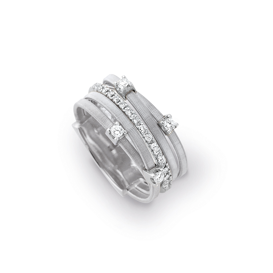 Marco Bicego Goa Five-Strand Diamond Ring
