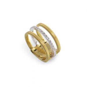 Marco Bicego Masai Gold & Diamond Three-Strand Ring