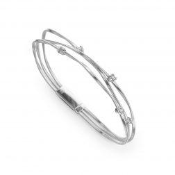 Marco Bicego Mini Marrakech Diamond Three-Strand Bracelet