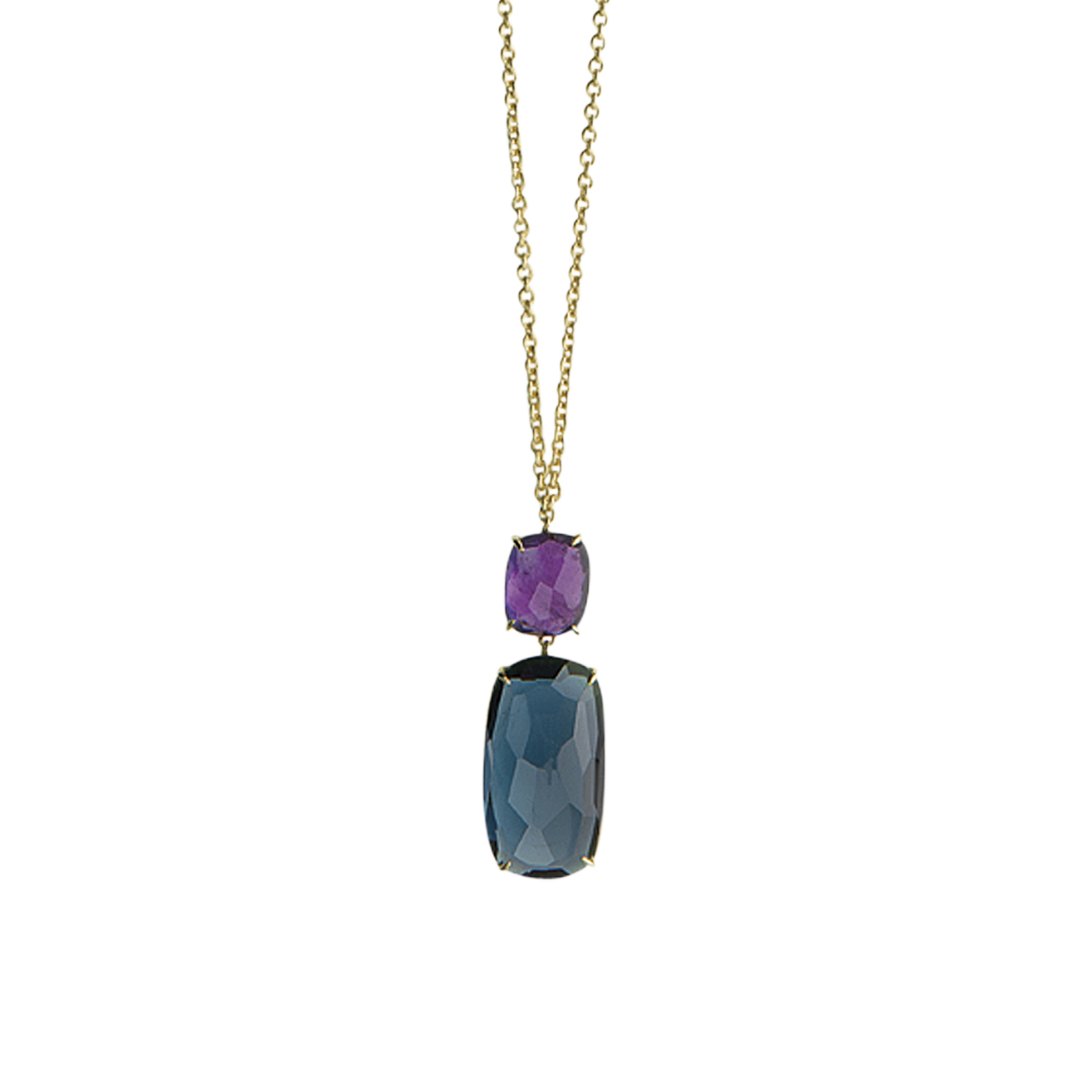 Marco Bicego Murano Gold, Topaz & Amethyst Pendant