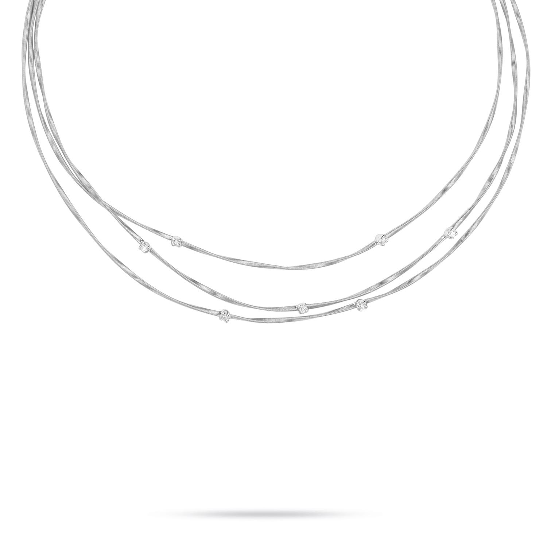 Marco Bicego Mini Marrakech Three-Strand Twist Necklace