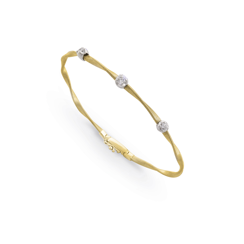 Marco Bicego Marrakech Gold Single-Strand Diamond Bracelet