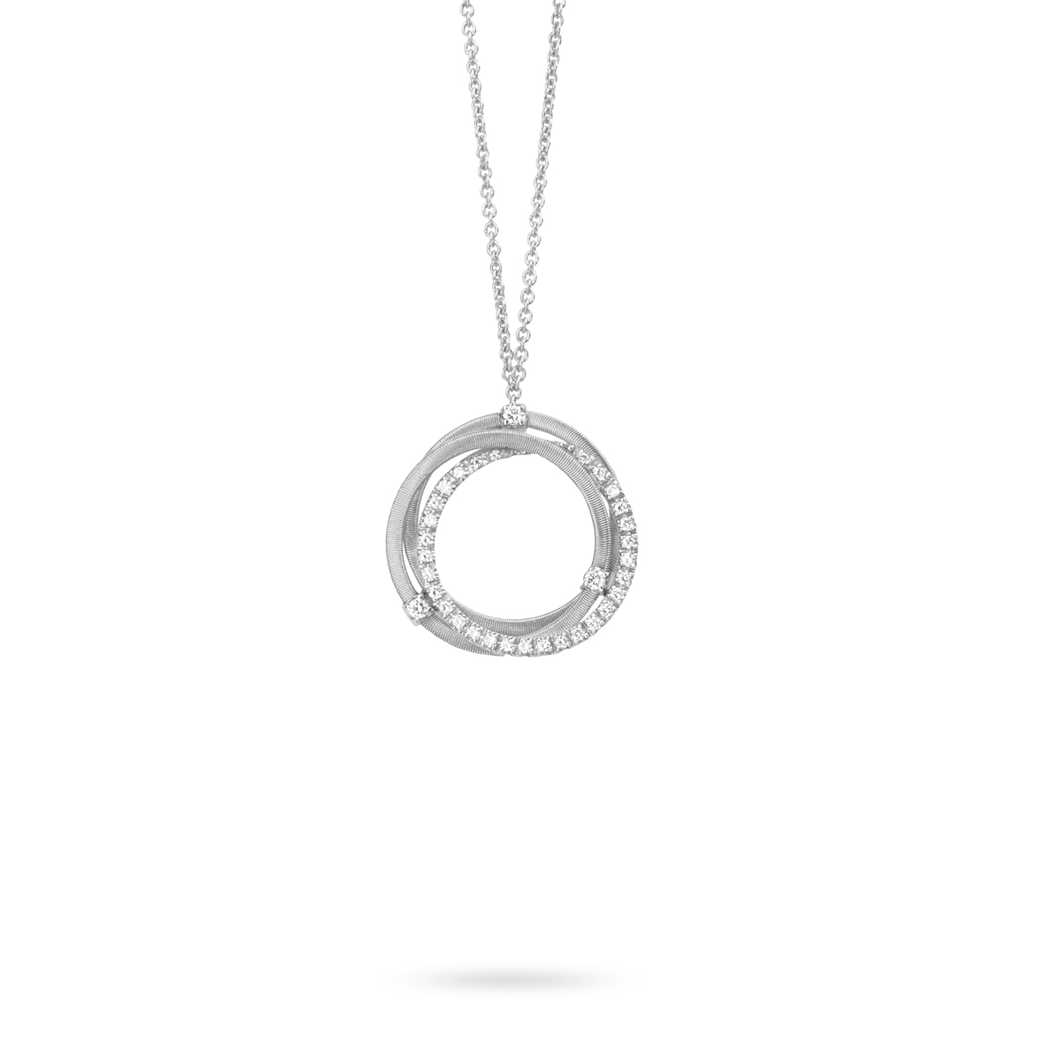 Marco Bicego Goa White Gold Interlinked Circles Necklace