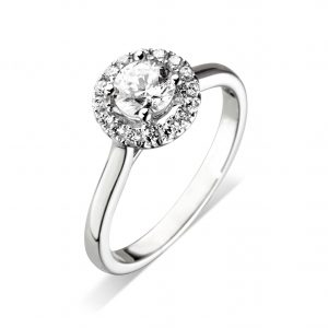 Williamson Brown Platinum Halo Engagement Ring
